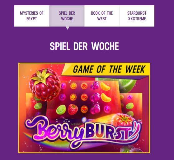 Lucky Casino Bonusaktion Spiel der Woche