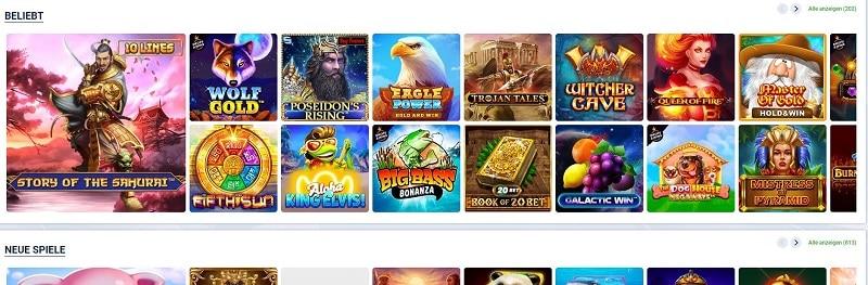 20Bet Casinospiele