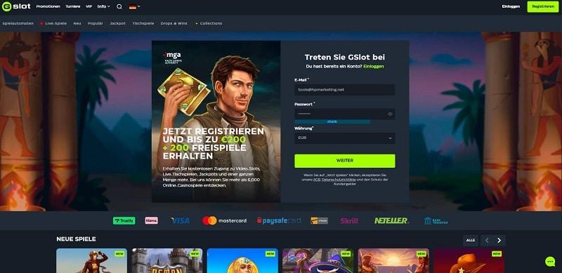 Gslot webseite