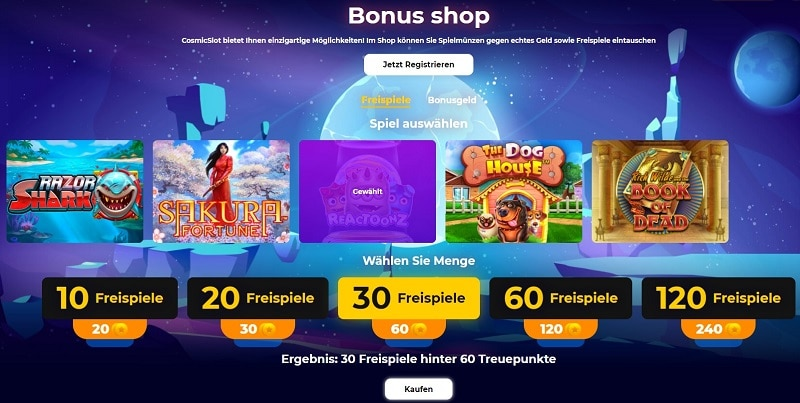 Cosmic Slot Bonusshop